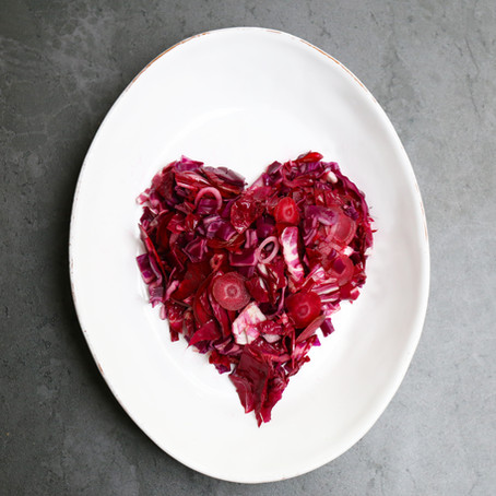Recipe for cardiovascualar health:          Red raw cardio-boost salad - show your heart some LOVE