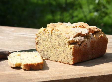 Brown Rice and Gram Flour Loaf with Flaxseed