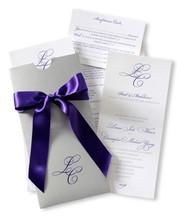 Fun letterpressed invitation
