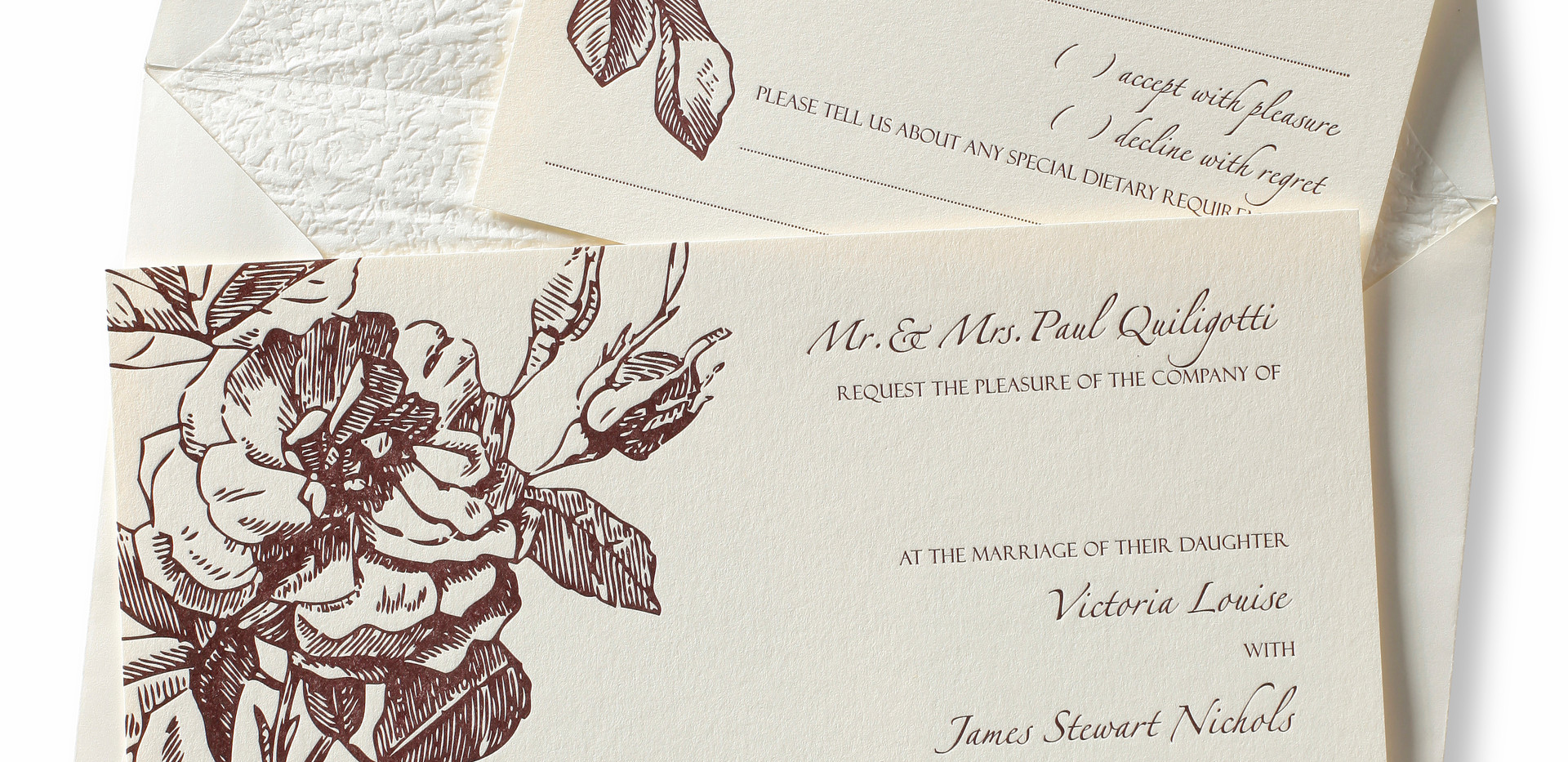 Letterpressed invitation