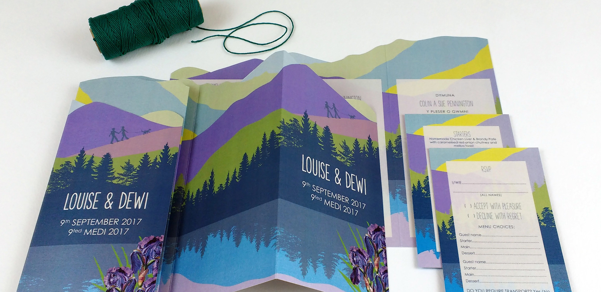 Mountain view trifold invitation