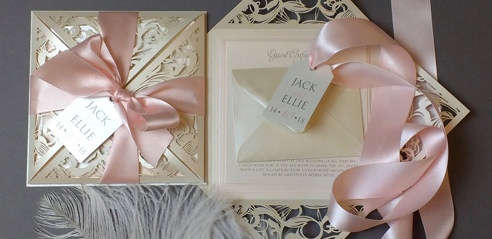 Luxury laser cut invite