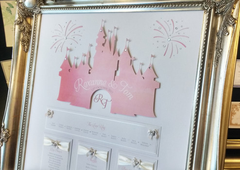 Seating plan featuring a Disney-Style fairy tale castle