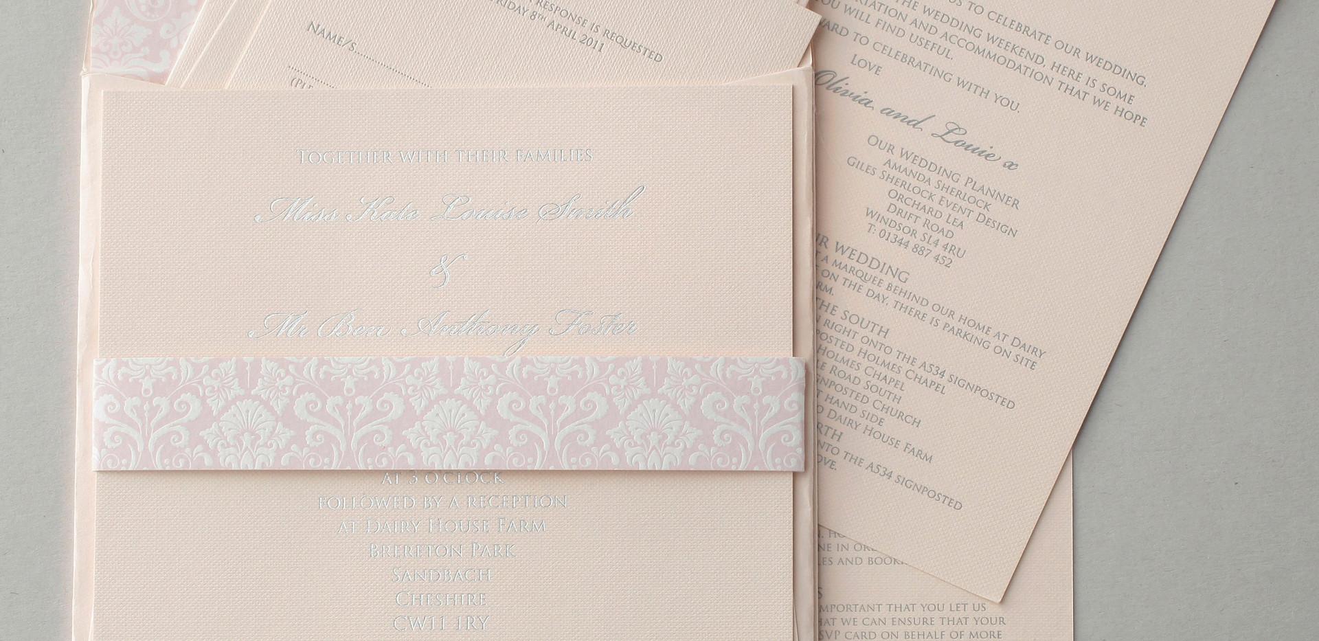 Letterpress and foil