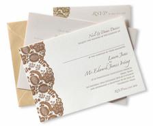 Letterpressed invitation