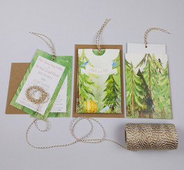 A pocket invitation with fairytale elements