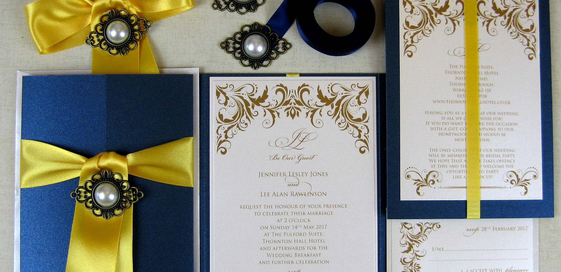 A beauty and the beast inspired invitation
