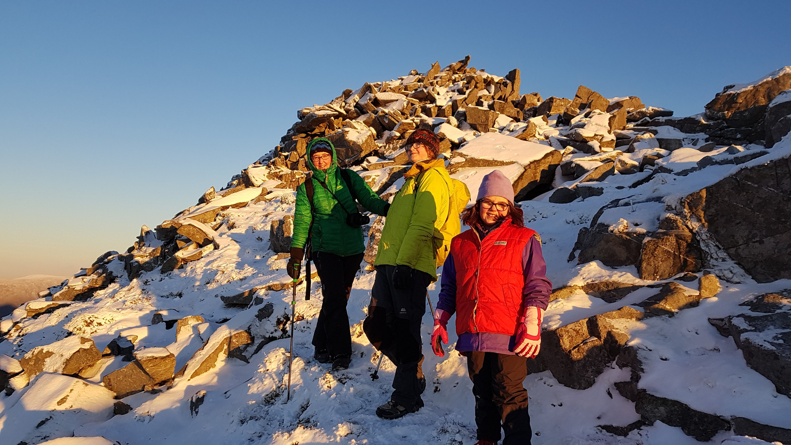 The final descent from Elidir Fawr