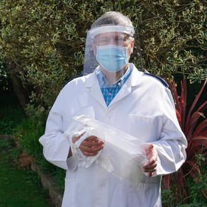 PPE delivered to front line staff by St David's DT Dept