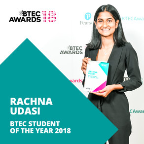 SDC's Rachna global BTEC student of the year!