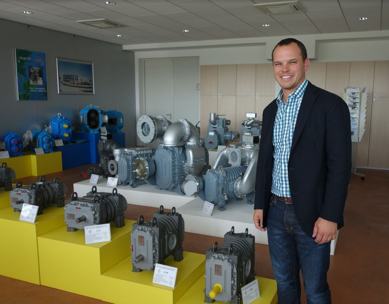 CEO, Chris Chandler at Jurop facility in Italy.