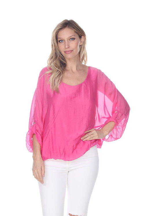 Silk ¾ sleeve blouse