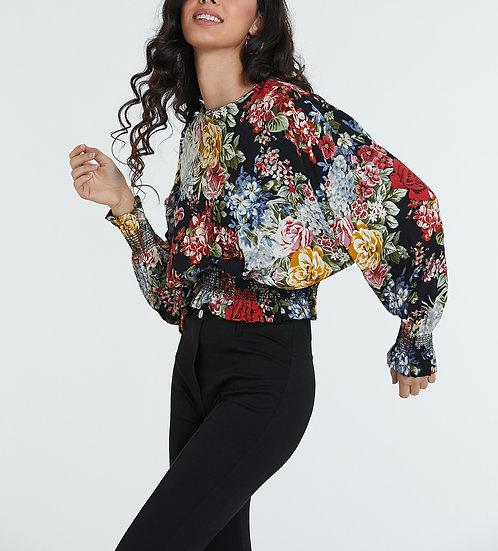 10116 Flower print blouse