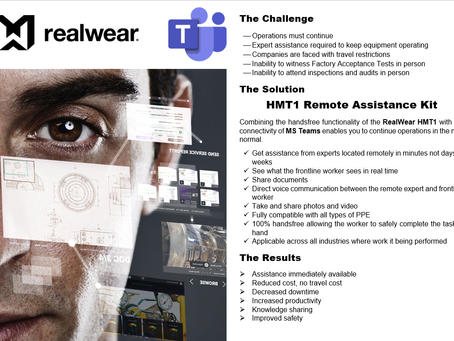 RealWear & MS Teams, connecting your front line workers