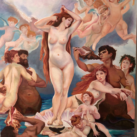 Birth of Venus after William Bouguereau
