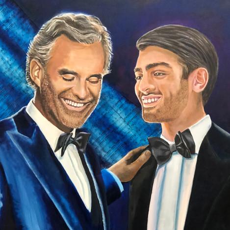 Andrea Bocelli and son Mateo Bocelli
