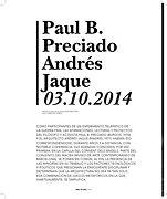 Paul B. Preciado Andres Jaque