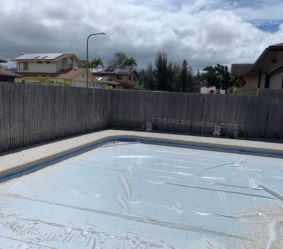 Pool Deck Being Chipped