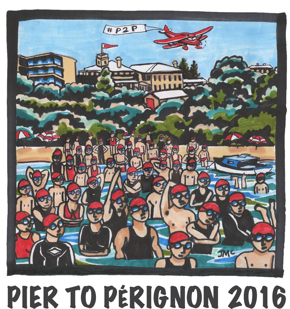 At the Pier to Pérignon swim