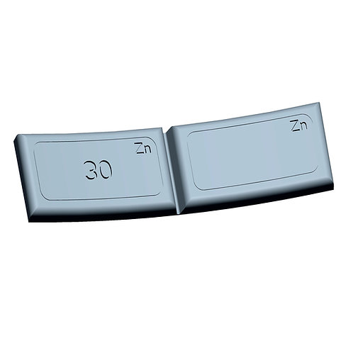 31D2Z0035 PLMZ in ZINCO PLASTIFICATO Ribassato gr. 35