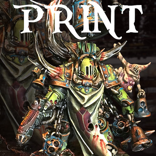 Death Guard Noxious Blightbringer Print 5x7 - Numbered & Signed