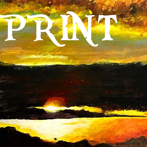"""Sunset Over the West"" Print 8x8 - Numbered & Signed"
