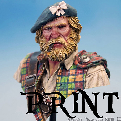 Scottish Clansman 8x8 Print - Numbered & Signed