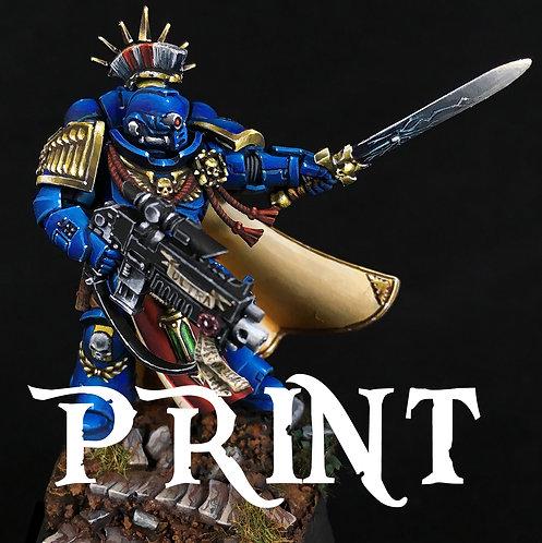 Ultra Marine Captain - Print 5x7