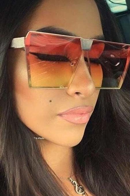Modern Trapezoid Lens Gradient Sunglasses