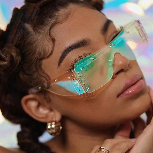 Modern Cool Tint Mirrored Lens Sunglasses
