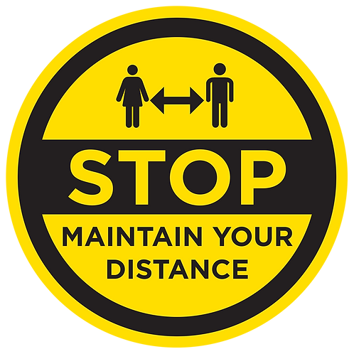 'STOP MAINTAIN DISTANCE' - FLOOR GRAPHIC [INTERNAL USE]