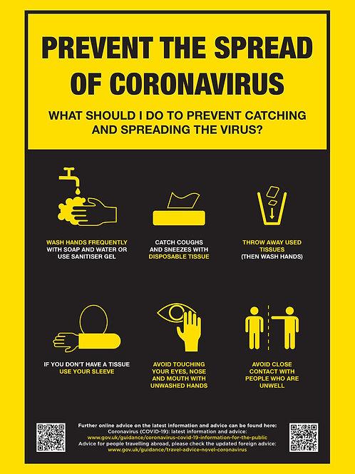 'CORONAVIRUS PREVENTION' - POSTER