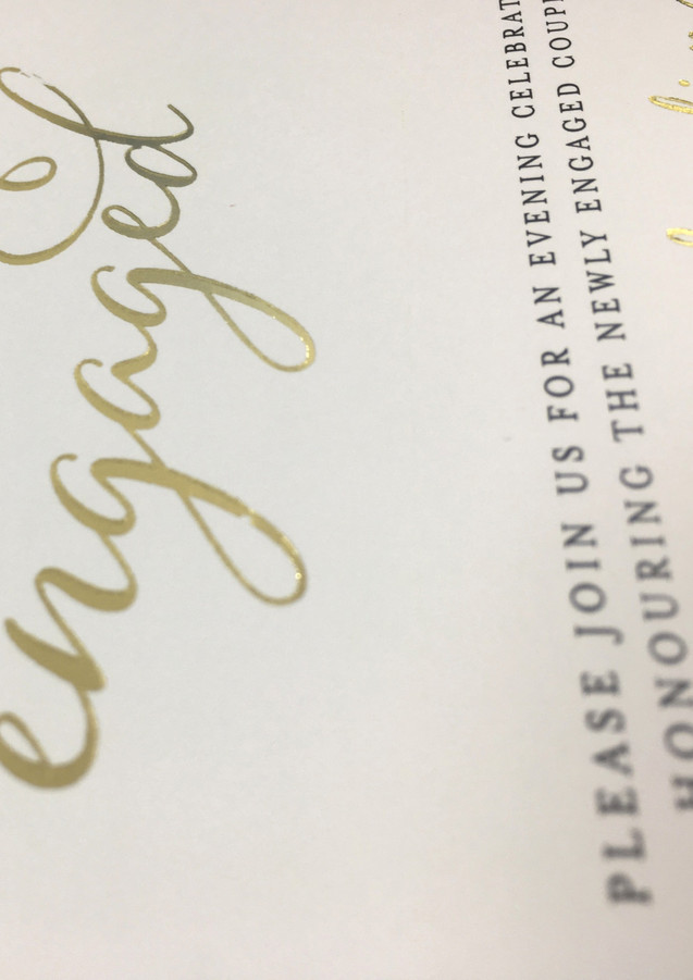 Gold Foil Wedding Invites