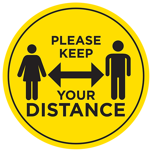'PLEASE KEEP DISTANCE' - FLOOR GRAPHIC [INTERNAL USE]