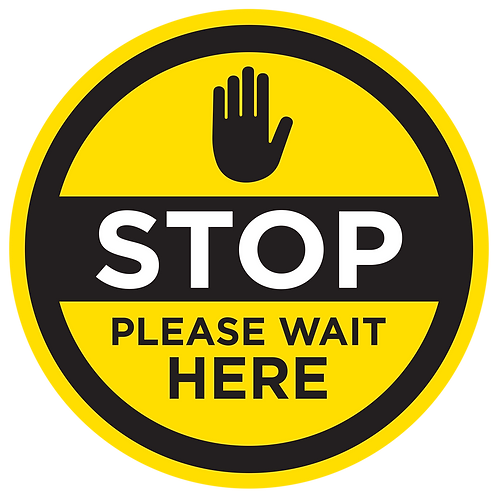 'STOP WAIT HERE' - FLOOR GRAPHIC [INTERNAL USE]