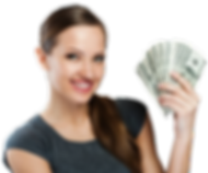 young business woman holding money_1_cli