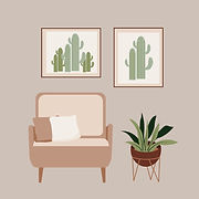 Vector illustration of Curated aesthetic products and additions