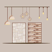 Vector illustration of floor, wall and ceiling enhancements offered by top Interior designers in Chennai