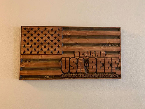 Demand USA-Beef Flag
