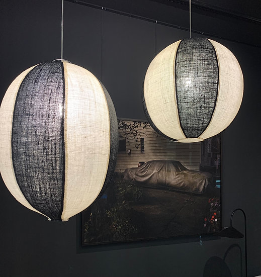 Black&White Jute Lamp