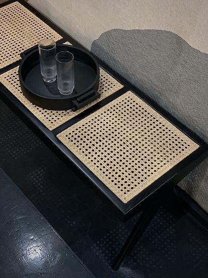 Detjer Bench 3-Sitzer black