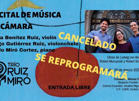 Recital de música de cámara | 28 de marzo 2020 | Escuela de Música Crescendo, Ciudad de México