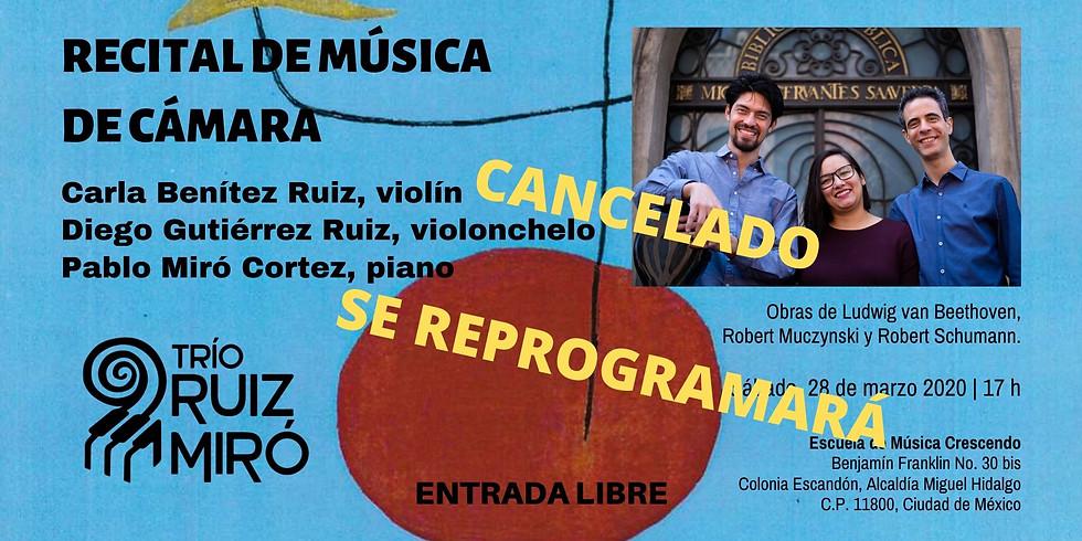 Recital de música de cámara | Trío Ruiz Miró