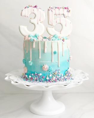 Aqua Drip Cake