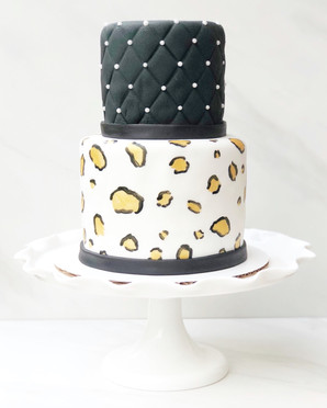 Quilted Fondant Leopard