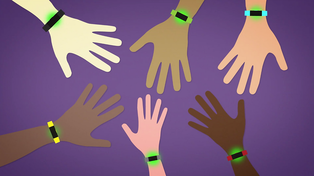 Fitbits on people of different races