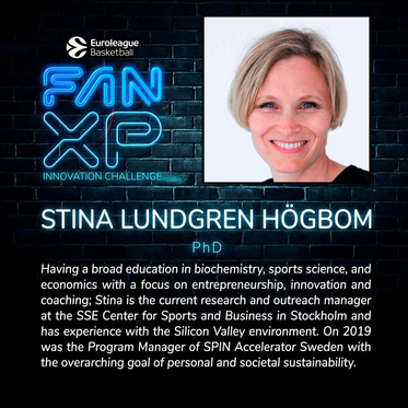 Stina announced as judge for Euroleague Basketball Fan XP Innovation Challenge