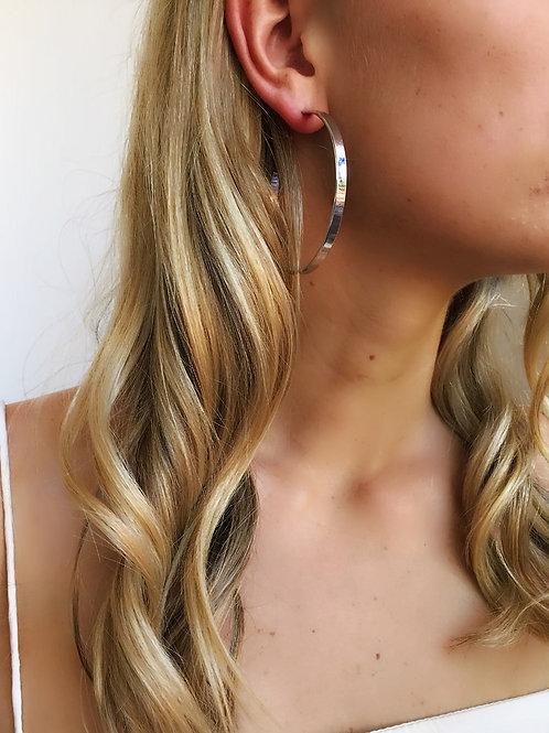 Hoop Earrings - Silver - Wholesale