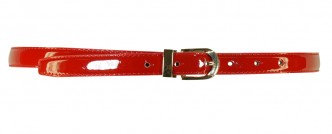 THIN LEATHER BELT Red