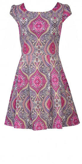 Persia Cap Dress Short Pink